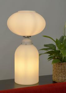 Original 70er Jahre Design Tischlampe Bodenleuchte Bauhaus Opal Lampe