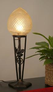 Französische original Jugendstil Tischlampe Lampe Schmiedeeisen 1920