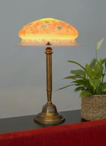 Unikat org. Jugendstil Tischlampe