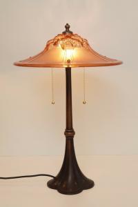 Einzigartige museale original Art Déco Tischlampe Frankreich 1920