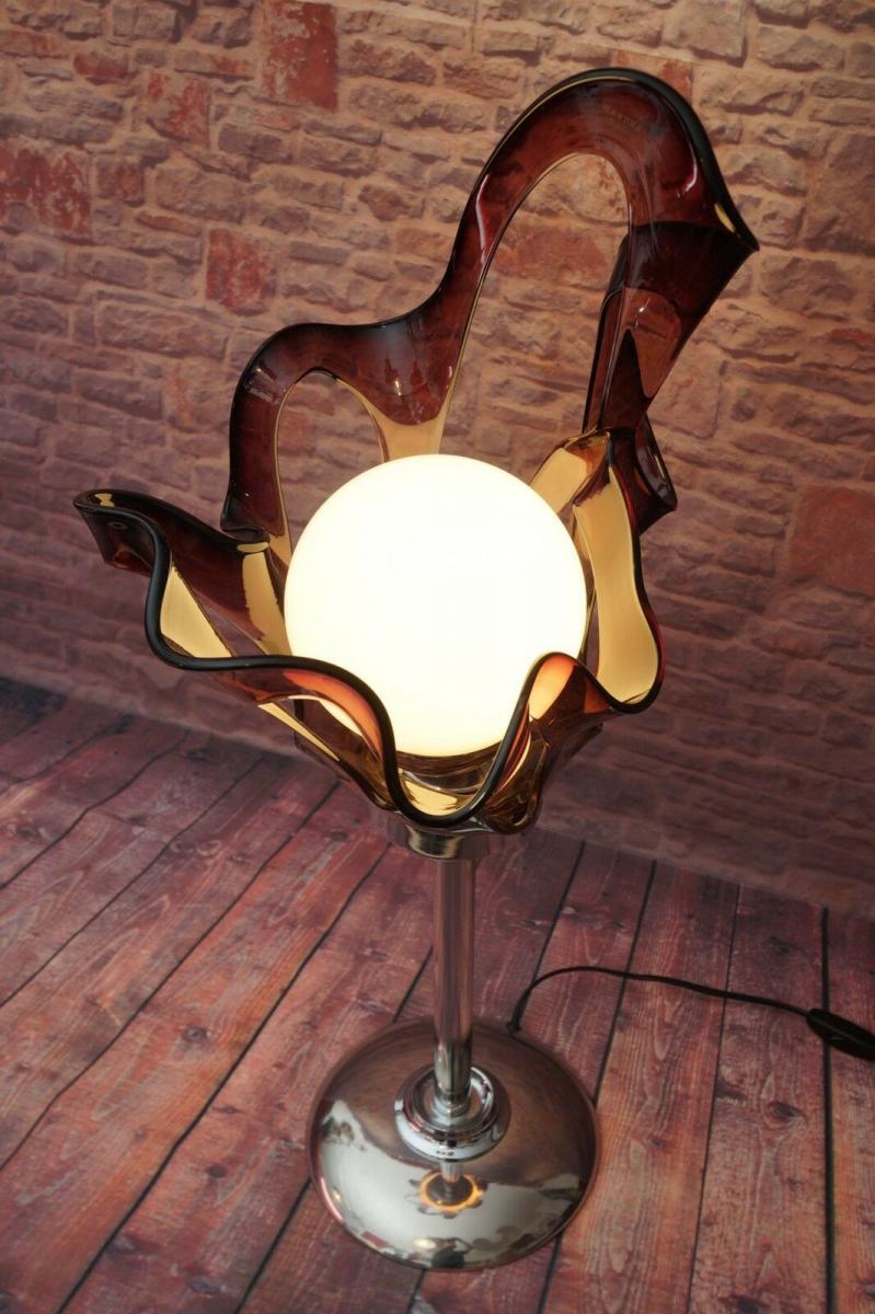 Unikat Designer Art Déco Tischlampe Schreibtischlampe