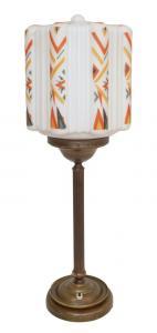 Große prachtvolle original Art Déco Schreibtischlampe Tischlampe Messing Bauhaus