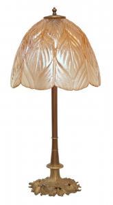 Prachtvolle original Jugendstil Schreibtischlampe Salon Tischlampe 73 cm 1920