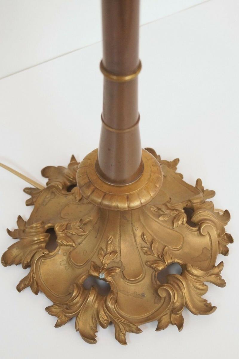 Prachtvolle original Jugendstil Schreibtischlampe Salon Tischlampe 73 cm 1920 5