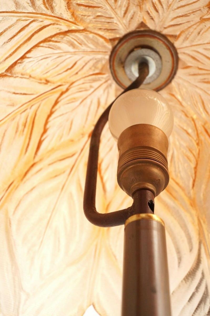 Prachtvolle original Jugendstil Schreibtischlampe Salon Tischlampe 73 cm 1920 7