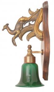 Jugendstil Jagdhaus Wandlampe