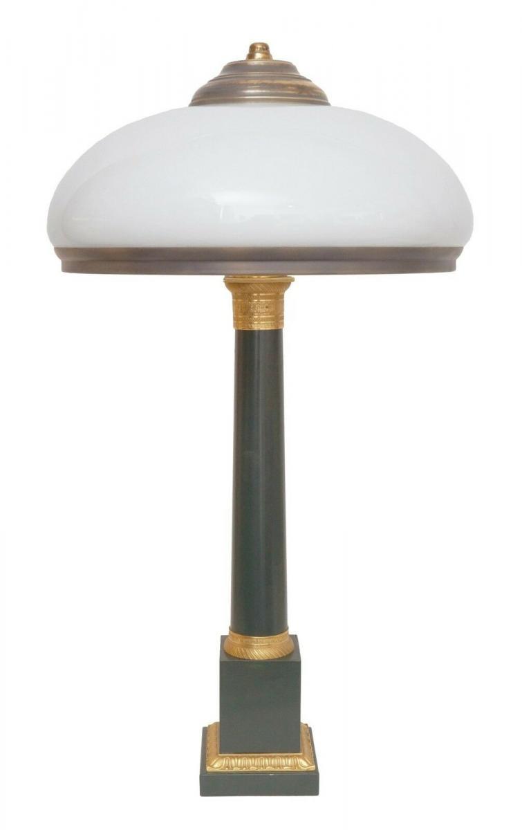 Garantiertes Unikat prachtvolle Jugendstil Lampe Schreibtischleuchte 65 cm Salon 0