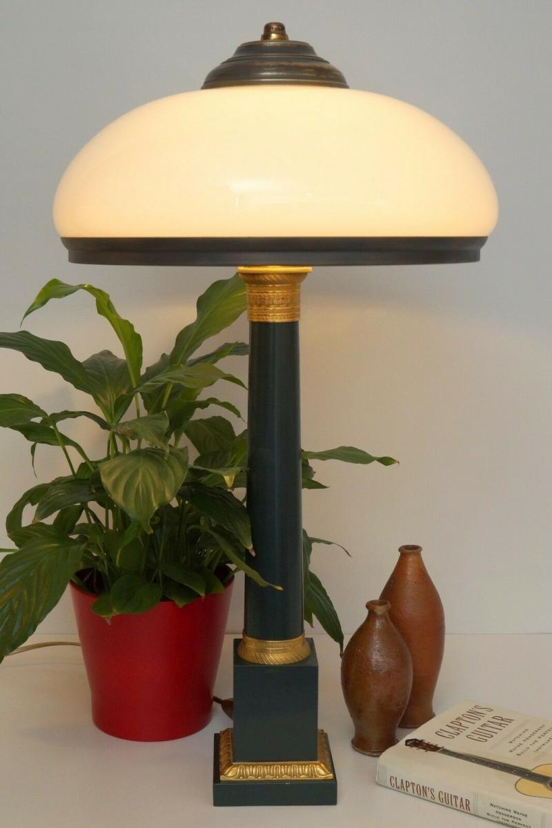 Garantiertes Unikat prachtvolle Jugendstil Lampe Schreibtischleuchte 65 cm Salon 1