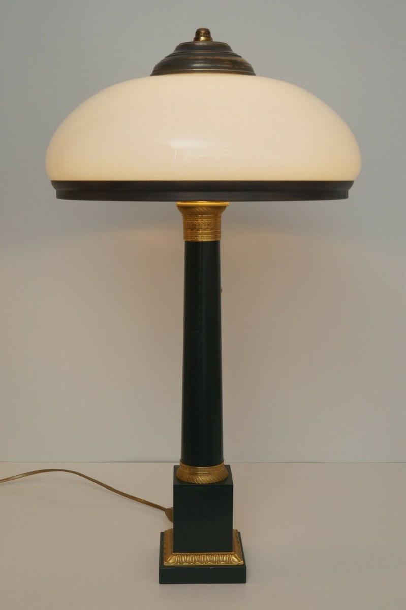 Garantiertes Unikat prachtvolle Jugendstil Lampe Schreibtischleuchte 65 cm Salon 2