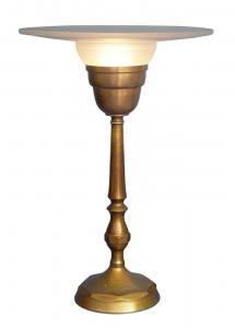 Sehr elegante original französische Art Déco Tischleuchte Lampe Leuchte Messing