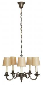 Schöne Jugendstil Hängeleuchte Deckenleuchte Zinn Shabby Chic Röckchenschirm