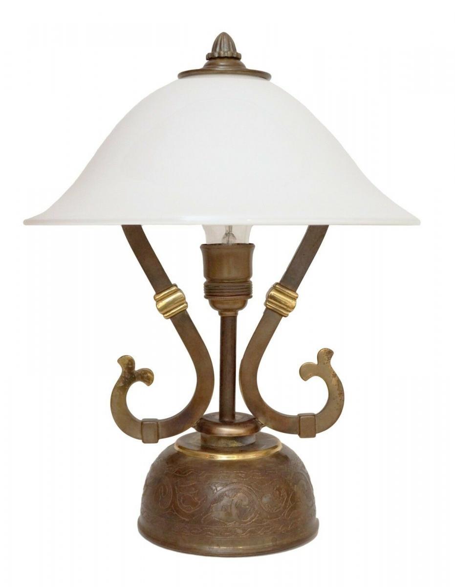 Wunderschöne original Jugendstil Schreibtischleuchte 1940 Lampe Tischleuchte 0