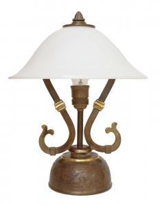 Wunderschöne original Jugendstil Schreibtischleuchte 1940 Lampe Tischleuchte