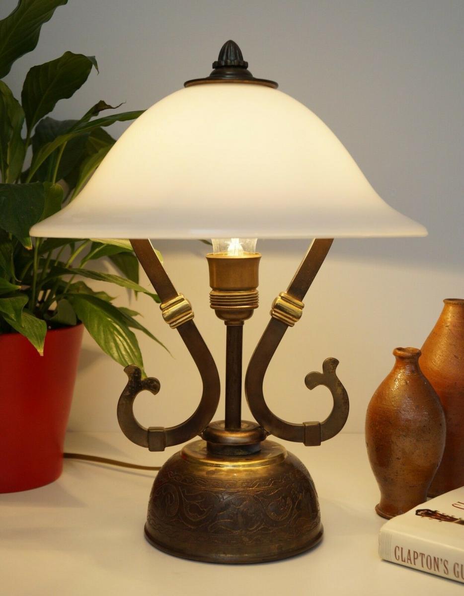 Wunderschöne original Jugendstil Schreibtischleuchte 1940 Lampe Tischleuchte 1