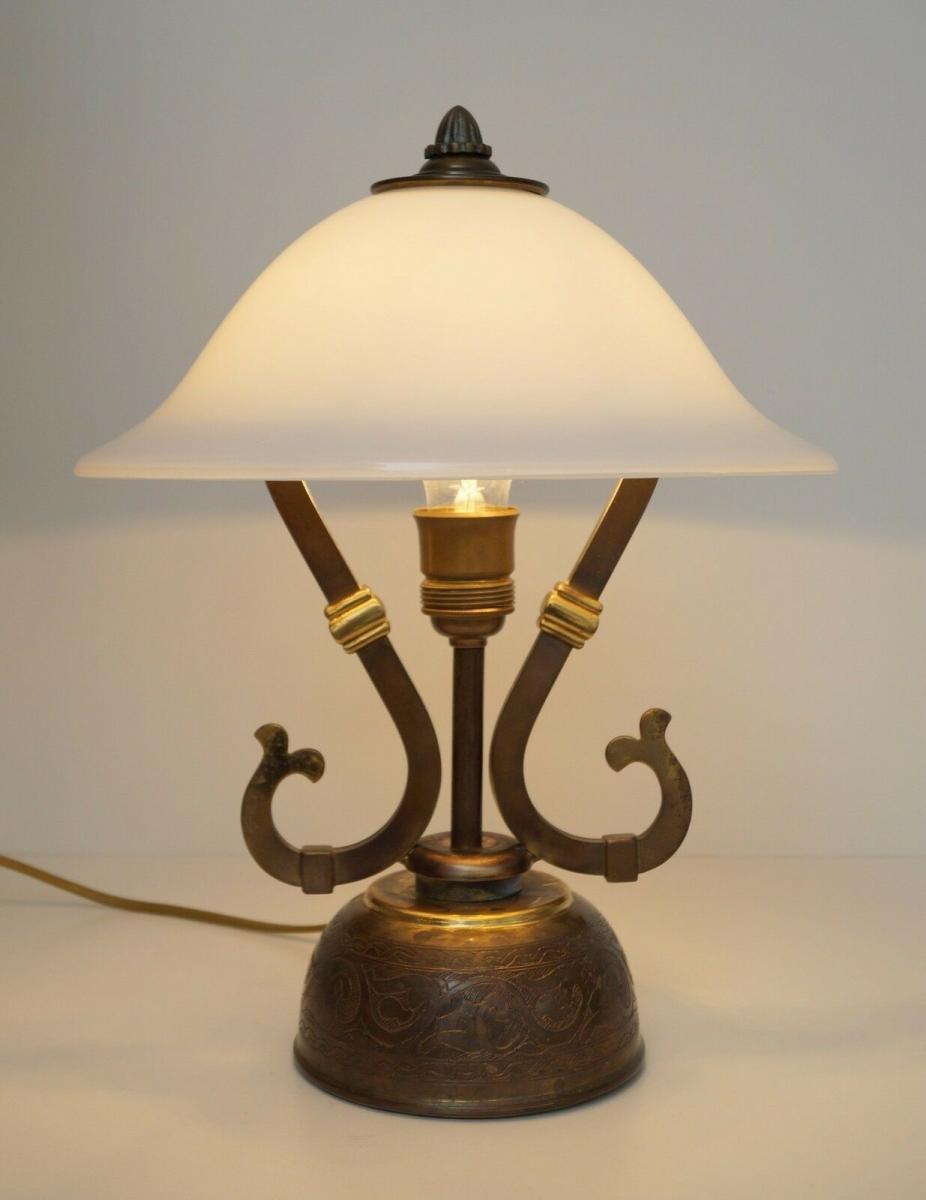 Wunderschöne original Jugendstil Schreibtischleuchte 1940 Lampe Tischleuchte 2