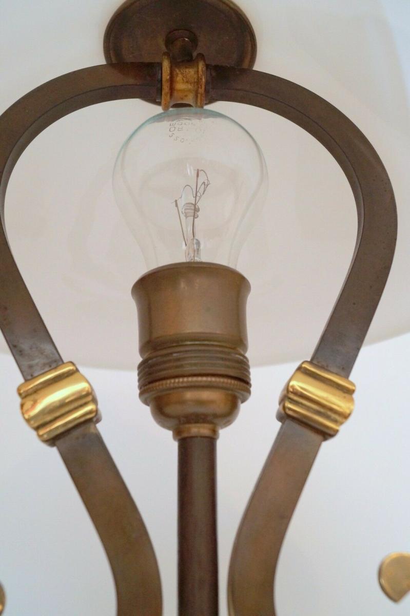 Wunderschöne original Jugendstil Schreibtischleuchte 1940 Lampe Tischleuchte 5
