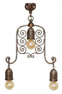 Einzigartiger original Historismus Deckenleuchter Deckenlampe Hängeleuchte 1890