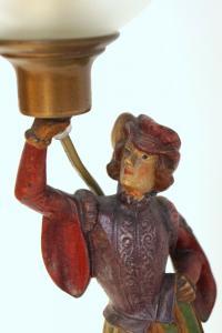 Einzigartige Historismus Tischlampe figürlich um 1900 Messing Statuette