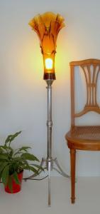 Bauhaus Design Chrom Stehlampe Lampe Stehleuchte Unikat