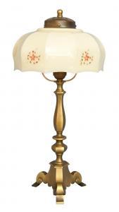 Wunderschöne original Jugendstil Kaffeehausleuchte Tischlampe Messing Shabby
