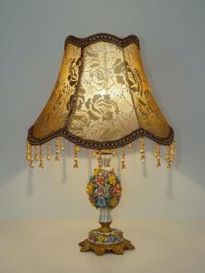 Unikate romantische Shabby Chic Jugendstil Tischlampe Lampe
