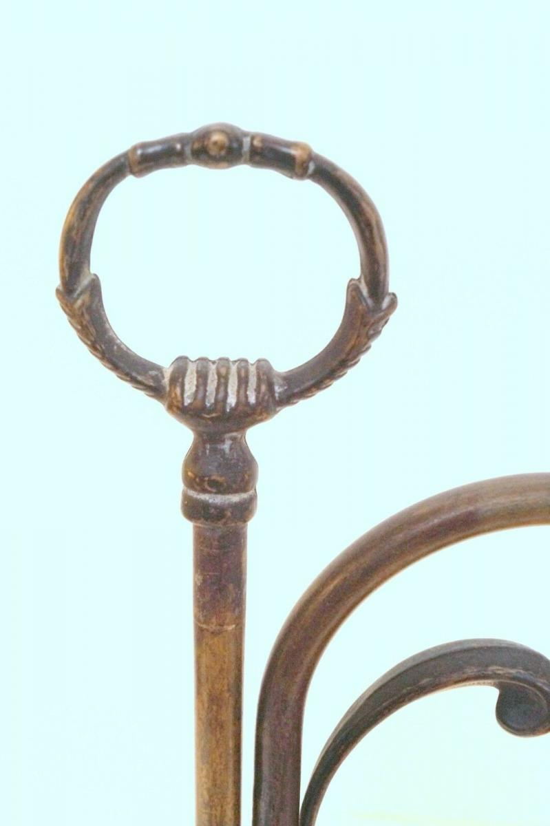 Wunderschöne Jugendstil Tischlampe Leseleuchte Shabby Chic Rosenglas Messing 6