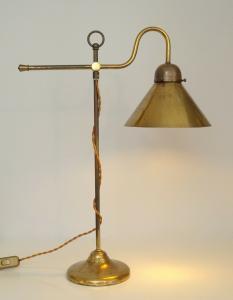 Klassisch elegante original Art Déco Kontorleuchte Arbeitslampe Werkstattlampe