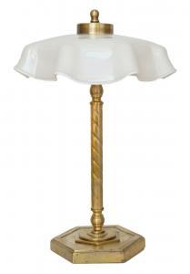 Wunderschöne Wiener Jugendstil Kaffeehausleuchte Tischlampe Messinglampe