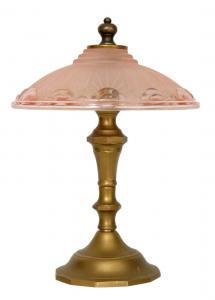 Art Déco Tischlämpchen zierlich original Messinglampe Tischleuchte Nachttisch