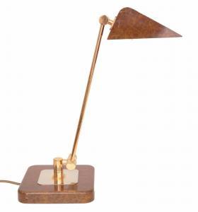 Orig. Hillebrand 80er Retro Schreibtisch Design Schreibtischleuchte Kroko-Optik