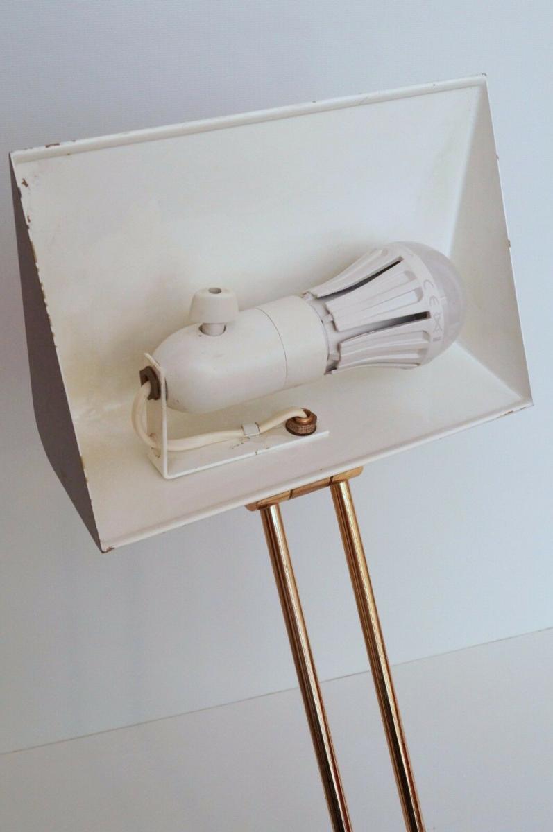 Orig. Hillebrand 80er Retro Schreibtisch Design Schreibtischleuchte Kroko-Optik 10