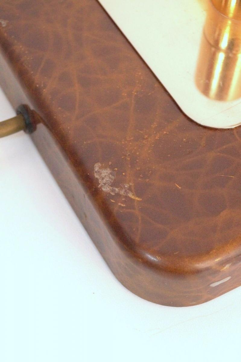 Orig. Hillebrand 80er Retro Schreibtisch Design Schreibtischleuchte Kroko-Optik 4