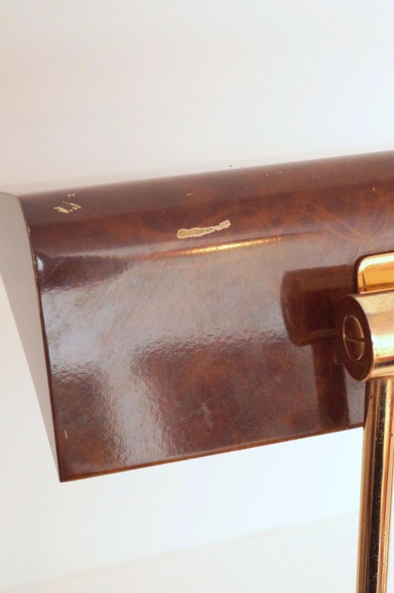 Orig. Hillebrand 80er Retro Schreibtisch Design Schreibtischleuchte Kroko-Optik 7