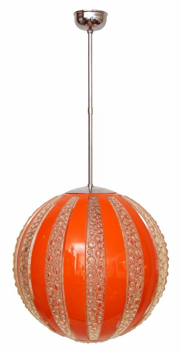 70er Jahre Seventies Deckenlampe Sputnik Light Globe Hängelampe Moon 0