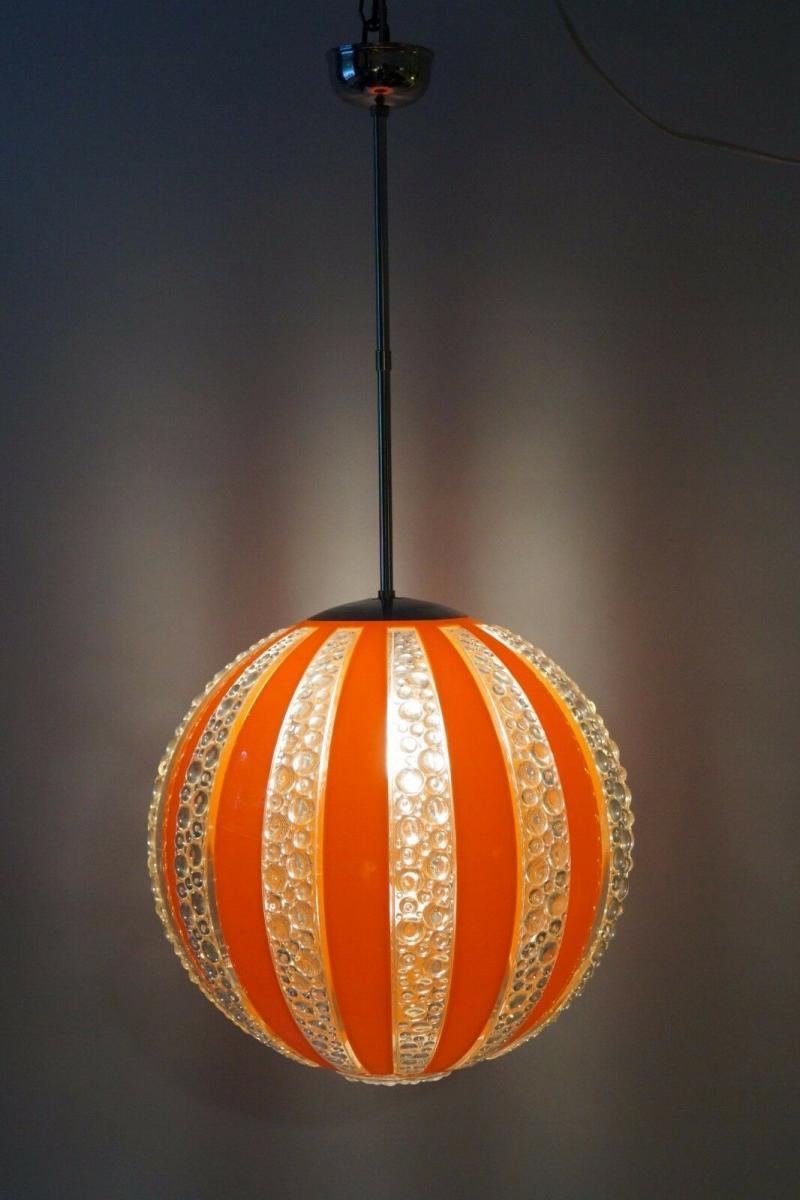 70er Jahre Seventies Deckenlampe Sputnik Light Globe Hängelampe Moon 2