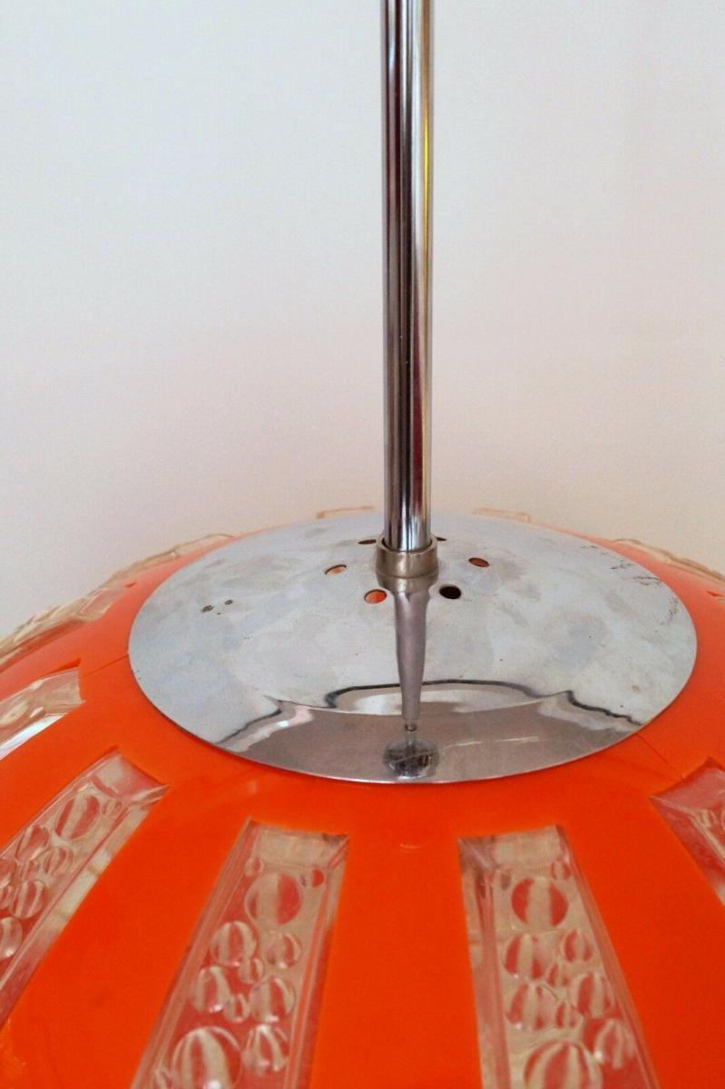 70er Jahre Seventies Deckenlampe Sputnik Light Globe Hängelampe Moon 4