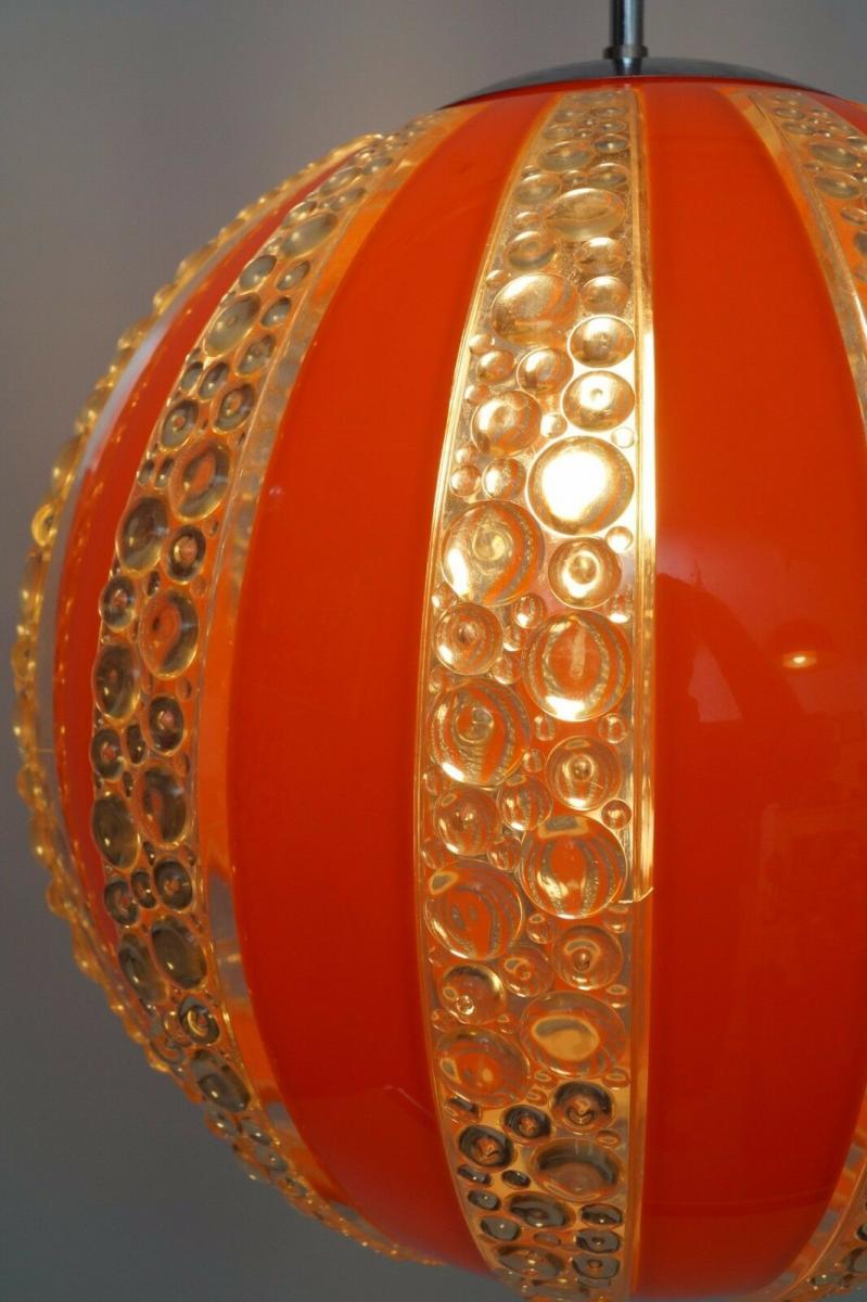 70er Jahre Seventies Deckenlampe Sputnik Light Globe Hängelampe Moon 5