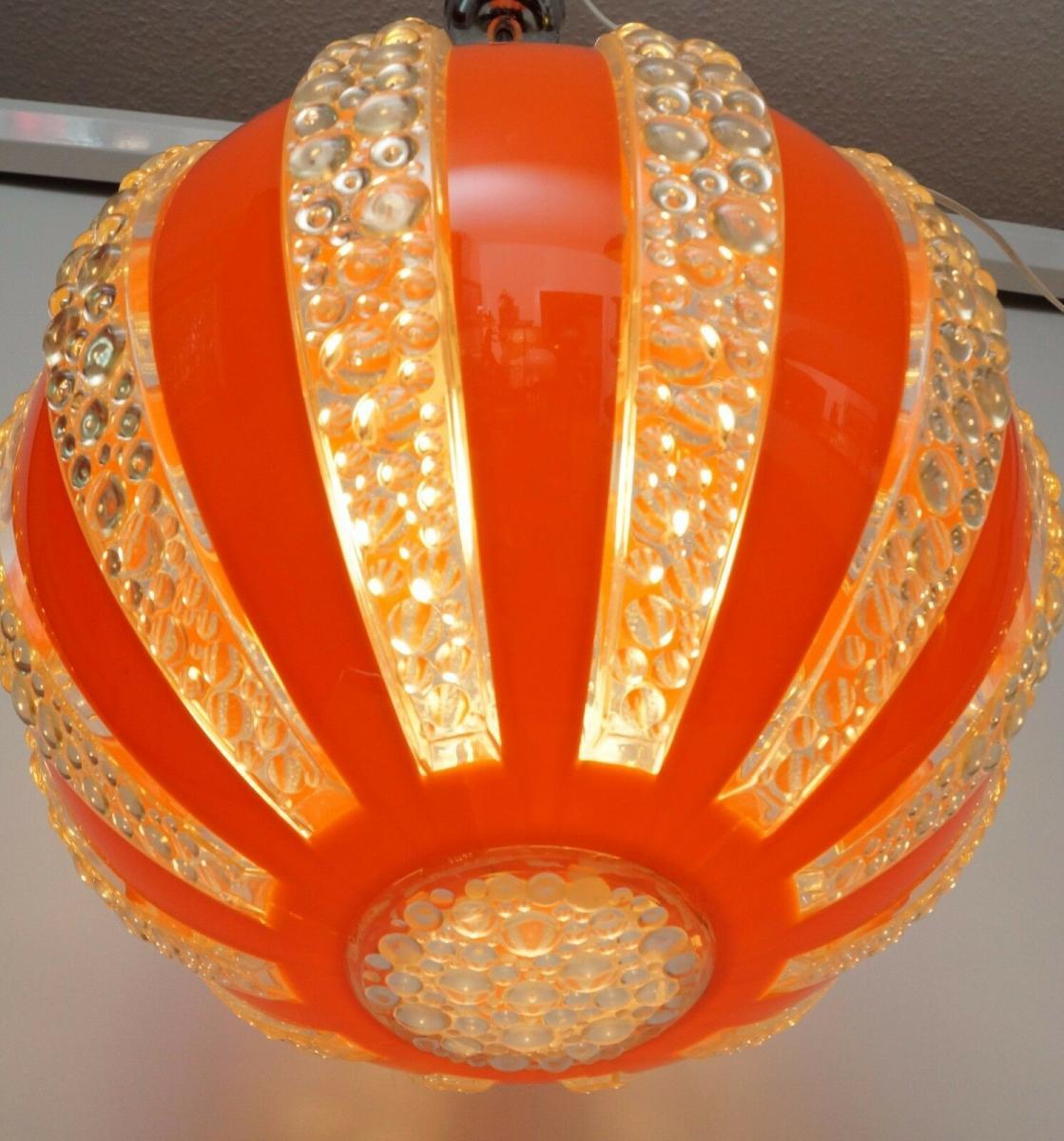 70er Jahre Seventies Deckenlampe Sputnik Light Globe Hängelampe Moon 6