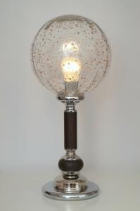 Prachtvolle original 70er Jahre Bauhaus Lampe retro seventies Tischlampe Chrom