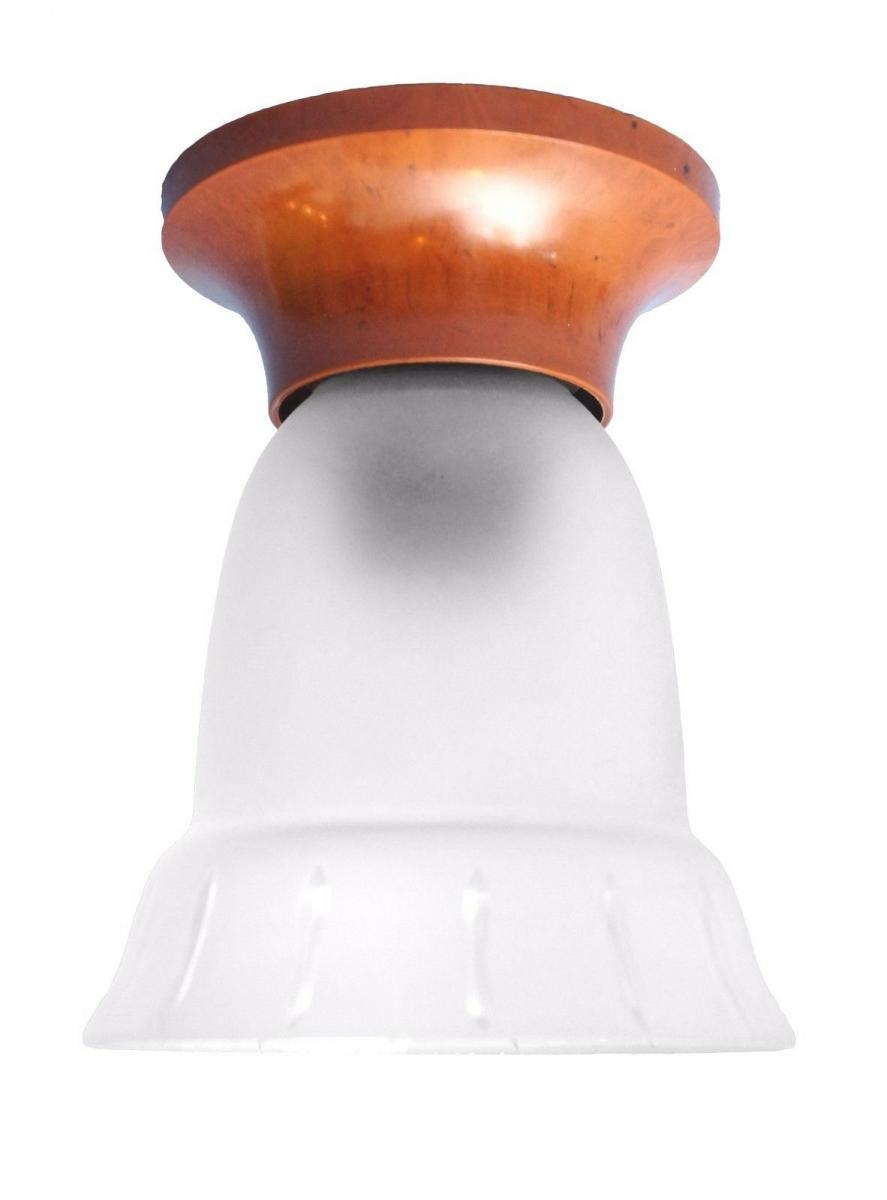 Original Jugendstil Art Deco Deckenlampe Bakelit Glas um 1920 Hängelampe rar 0