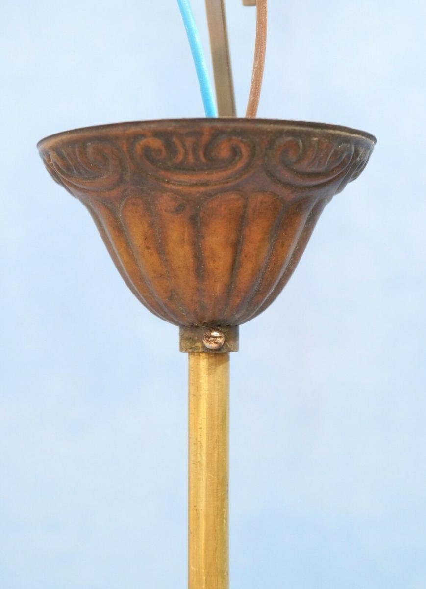 Wunderschöne orig. Jugendstil Deckenlampe Deckenleuchte Hängelampe Shabby 1920 3