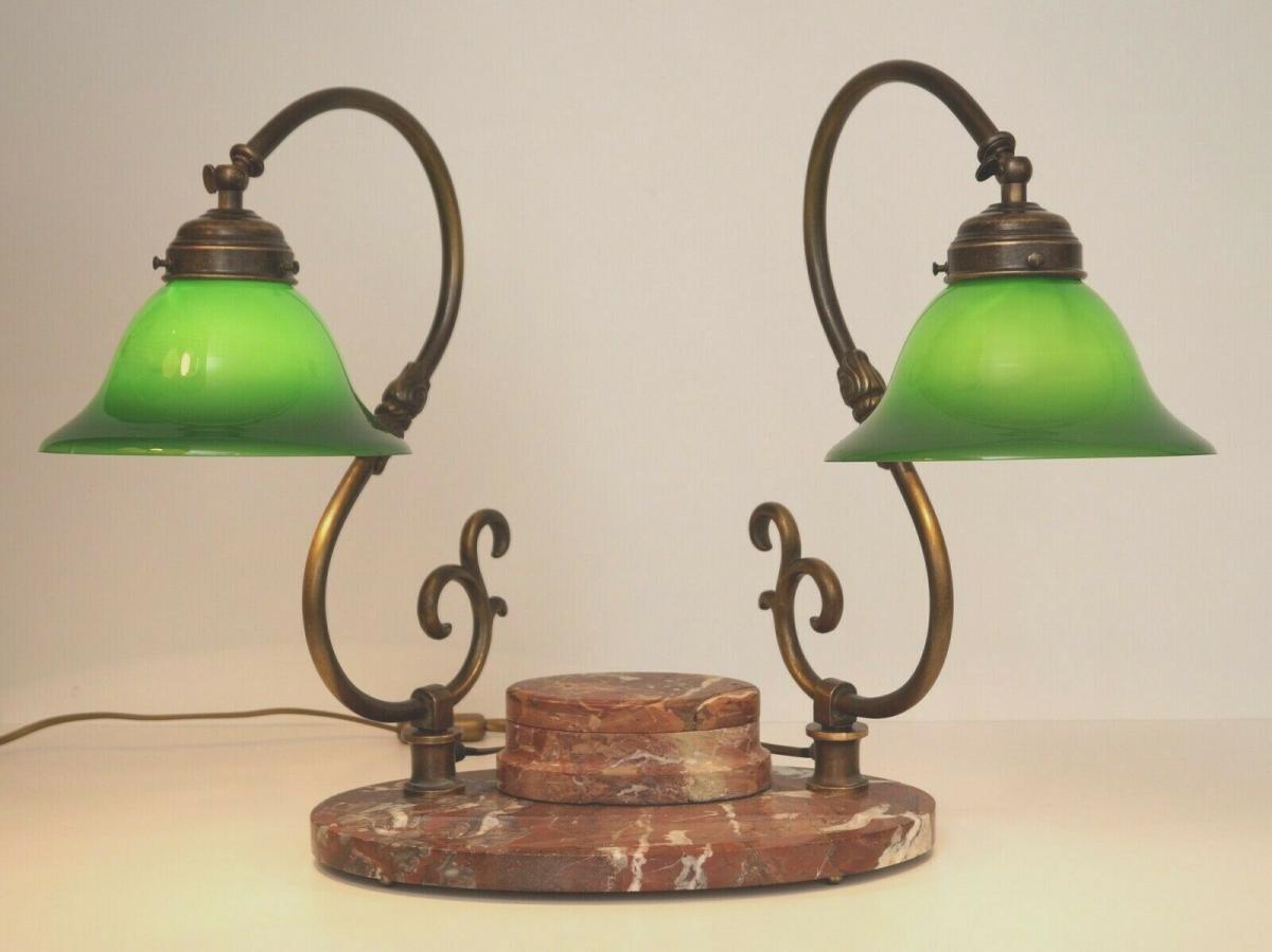 Bankerleuchte Einzigartige original Art Déco Schreibtischleuchte um 1920 Lampe