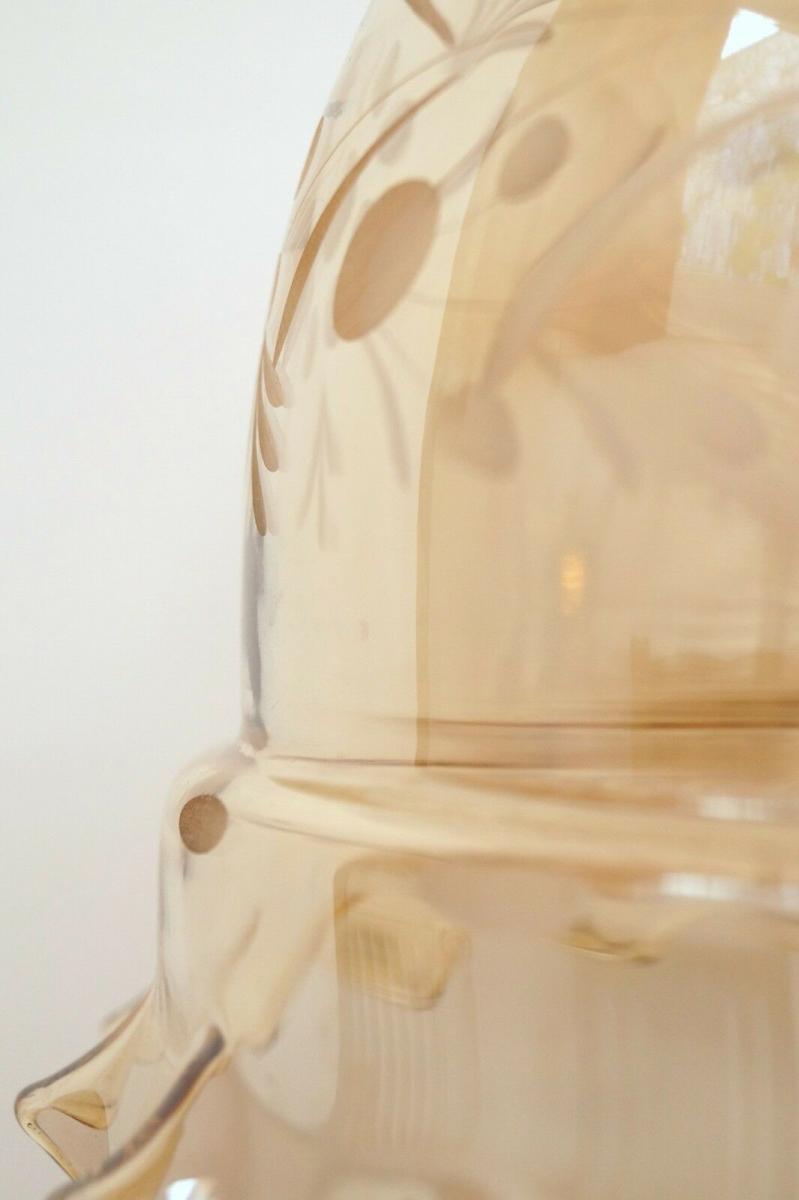 Tolles Einzelstück original Jugendstil Prunk Tischleuchte
