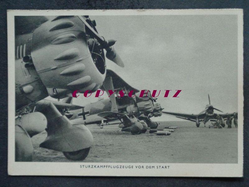 FLUGZEUG - Sturzkampf-Flugzeuge vor dem Start Militaria - 2. WK