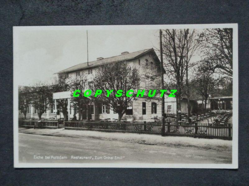 EICHE Wildpark Potsdam - Foto-AK - Restaurant ONKEL EMIL - 1934