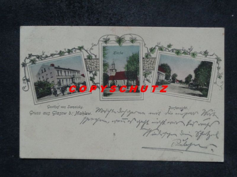 GLASOW Blankenfelde Mahlow Teltow - z. B. Gasthof SAMEISKY - col. - 1909
