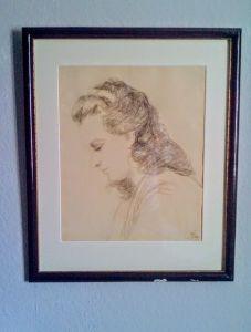 Frauenportrait von Ugi BATTENBERG