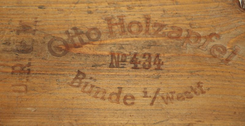 Alte Zigarrenpresse Holz. Otto Holzapfel NO. 434 Bünde i. / Westfalen ( CD 6 ) 2