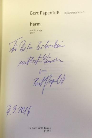 Papenfuß, Bert. Gesammelte Texte in Einzelbänden / harm
