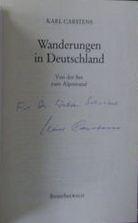 Carstens, Karl. Wanderungen in Deutschland.